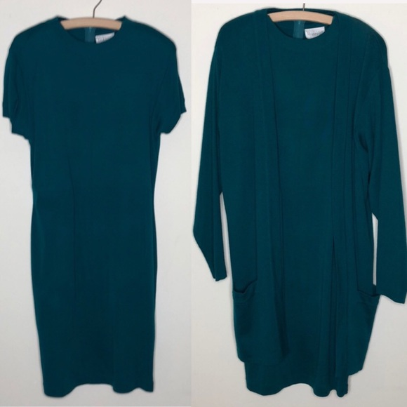 Classiques Entier Dresses & Skirts - Vintage Nordstrom wool blend dress + sweater L